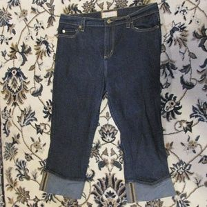 BABY PHAT CAT AUTHENTIC CUFFED CAPRI JEANS SIZE 14